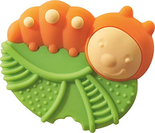 Haba Caterpillar Silicone Teether and Clutching Toy