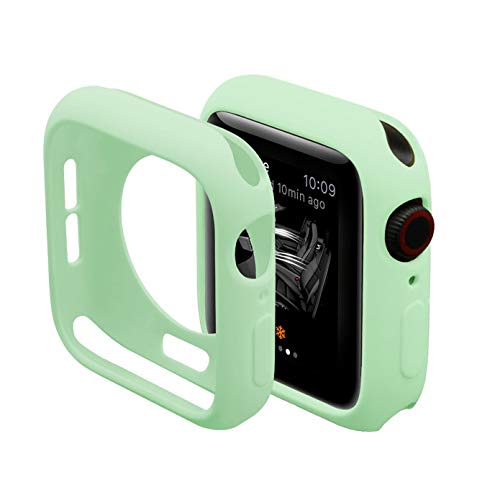 Vsmano Compatible with Apple Watch 38mm 42mm Case, Soft TPU Silicone Shell for iWatch Series 3/2/1 Protective Cover (38mm, Green)