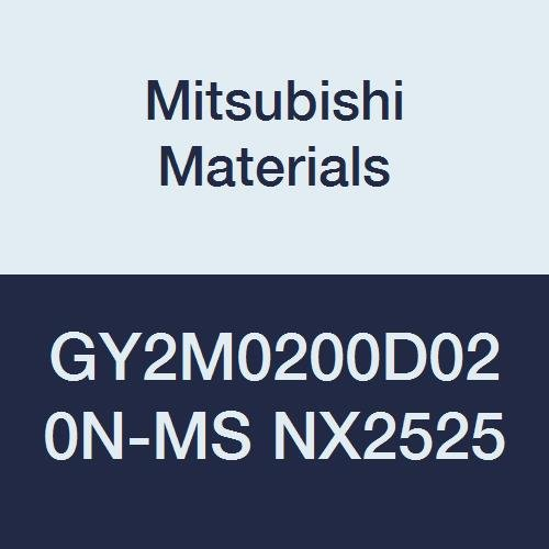 D Seat 0.079 Grooving Width 0.008 Corner Radius Pack of 10 Mitsubishi Materials GY2M0200D020N-MS NX2525 Cermet GY Grooving Insert for Multifunctional and Low Feeds 2 Teeth