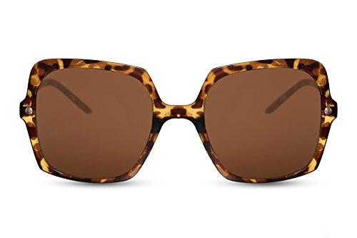 Gato Ojos Damas de Mujeres Leopardo 006 XXL Estampado Cheapass Gafas Metálicas Gafas de Grandes Sol Ca F1XwnU4q