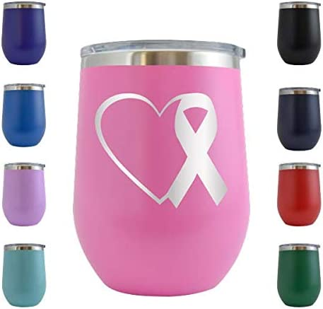Ribbon Breast Cancer Go Pink Personalized Cancer Survivor Tumbler Gift