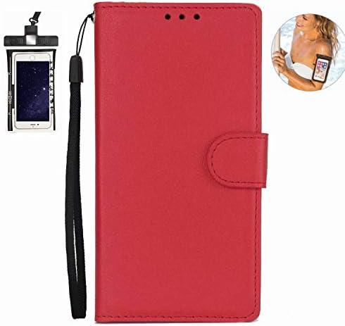 耐汚れ 耐摩擦 Samsung Galaxy S9 ケース 手帳型 本革 レザー カバー 財布型 スタンド機能 カードポケット 耐摩擦 全面保護 人気 アイフォン[無料付防水ポーチケース]