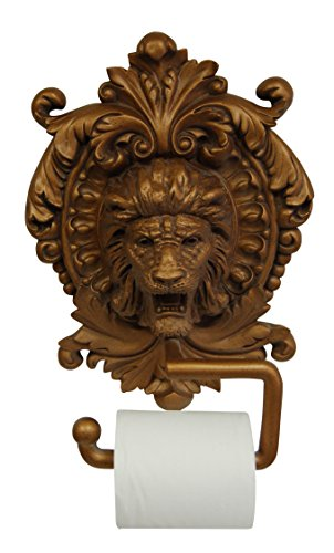 (Hickory Manor House Lion Medallion Plaque Toilet Paper Holder, Antique Gold )
