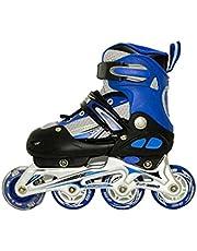 حذاء تزلج بعجلات متراصة من برن طراز JX-662، ازرق متوسط (35-38)