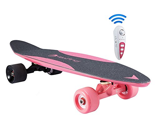 "Maxfind 27"" Waterproof Electric Skateboard, Light Motorized Board with Wireless Remote Control"