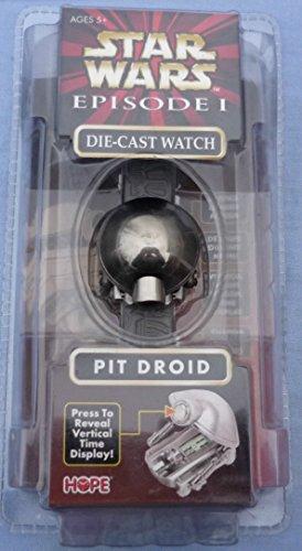 Star Wars Episode 1 Pit Droid Die Cast Digital Liquid Crystal Watch 1999 MISB!