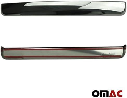 OMAC Chrom Kofferraum Leiste Zierleiste Edelstahl Renault Trafic III Vivaro Ab 2014
