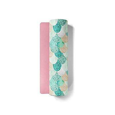 Fit Couture - Premium Custom Print Yoga Mat - Rounded Edges - Hot Pink Bottom - Non Slip - Eco Friendly PVC