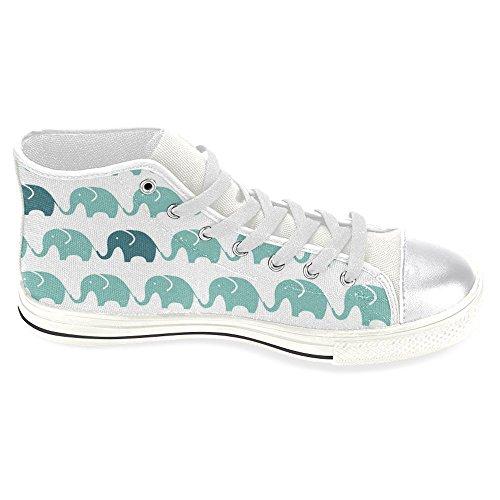 InterestPrint Womens High Top Classic Casual Canvas Fashion Shoes Trainers Sneakers Elephant k0QDRa5