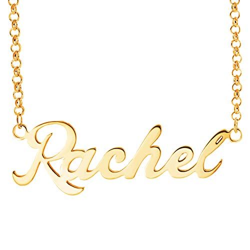 Daruirong 925 Sterling Silver Personalized Name Necklace Pendant Custom Made with Any Names -Rachel