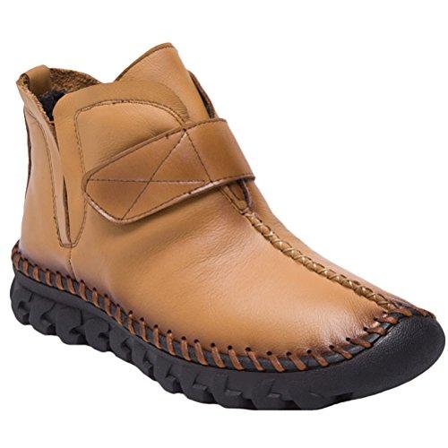 Vogstyle Damen Neue Winter Knöchel Aufladungen Beiläufige Boots Schuhe Style 2-Dunkle Kamel