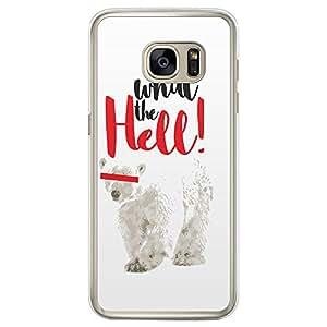 Loud Universe Samsung Galaxy S7 Edge Polar Bear What the Hell! Printed Transparent Edge Case - White