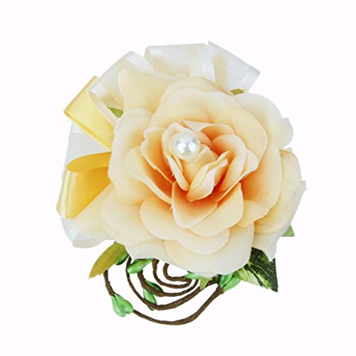 Handmade Rose Flower Corsage Hair Clip Bridal Wedding Party Hairpin Brooch