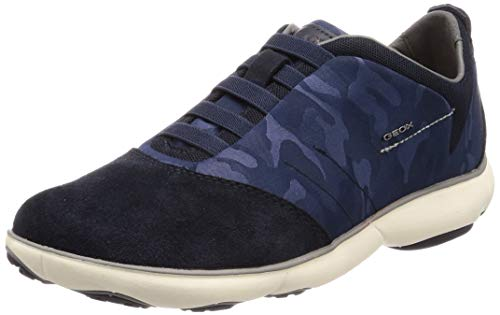 Geox Men's Camouflage Nebula Trainers Navy UK