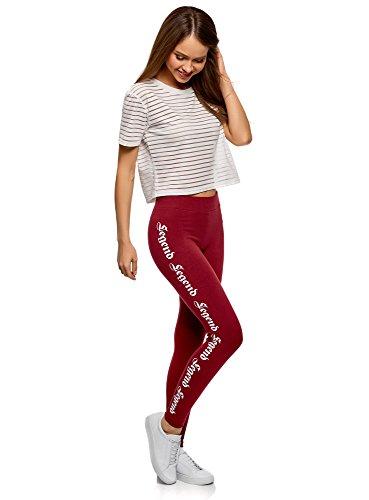 oodji Ultra Femme Legging en Maille Imprimé