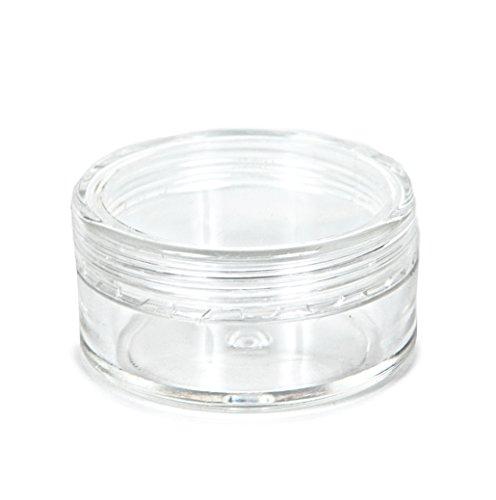 vivaplex 25 clear 10 gram plastic pot jars cosmetic containers with lids ebay. Black Bedroom Furniture Sets. Home Design Ideas