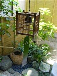 Miyabi Andon Carillón de Viento de bambú japonés Jaula: Amazon ...