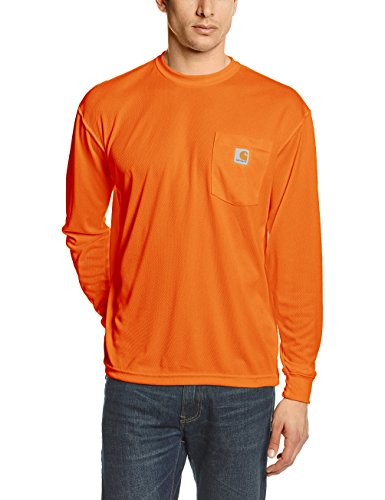 Carhartt Men's High Visibility Force Color Enhanced Long Sleeve Tee,Brite Orange,Small