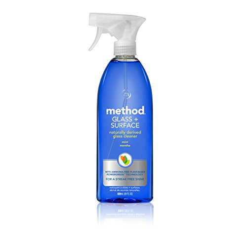 Method Glass Cleaner + Surface Cleaner, Mint, 28 Ounce (Pack 8)
