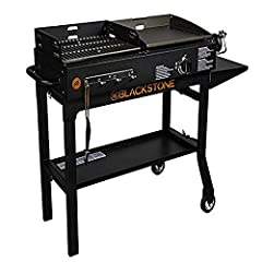 With the best of both Worlds, never settle again for how you want to cook with the Blackstone griddle & charcoal grill combo. The charcoal grill side is perfect for those that love the taste of the traditional outdoor cooking. The grill g...