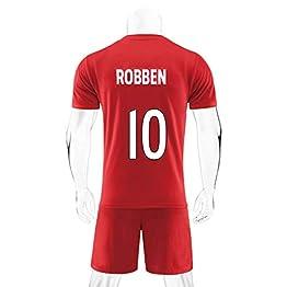 JXYA-Jersey T-Shirt de Football-Arjen Robben-10 -pour Le Maillot de Football des Amateurs de Sport T-Shirt for Hommes et Femmes T-Shirts Fans