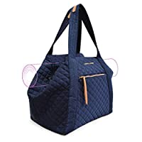 Adrienne Vittadini Quilted Yoga Bag-Navy Deals