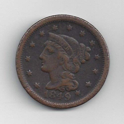 1839-1857 Braided Hair Large Cent by US (Old Large Cents)