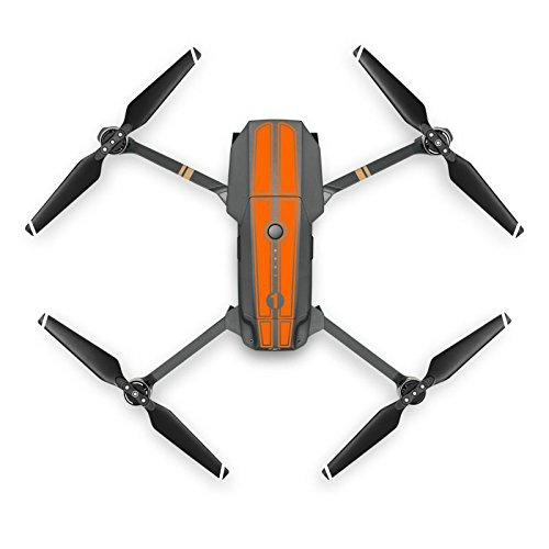 Platinum Stripe (Mavic Pro drone racing stripe sticker decal skin vinyl rally (Orange))
