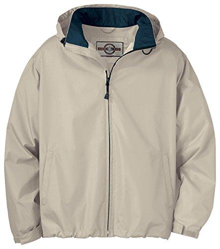 Mens Techno Lite Jacket - North End Men's Zipper Techno Lite Jacket, PUTTY 734, Large