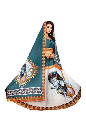 Indian Designer Partywear Ethnic Traditional Rama White Lehenga Choli by The Stylam