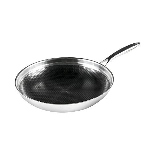 Frieling Usa frieling usa black cube hybrid stainless nonstick cookware fry pan