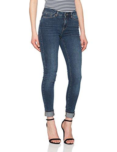 Vero Moda Pantalones Vaqueros Delgados para Mujer Azul (Medium Blue Denim Medium Blue Denim)