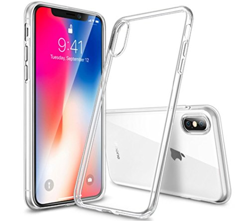 Soft Case Cover Rubberized (ESR Slim Clear Soft TPU Case for iPhone Xs/ iPhone X, Soft Flexible Cover Compatible for 5.8 inch(2017 & 2018 Release)(Jelly Clear))