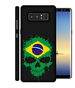 ColorKing Football Brazil 02 Black shell case cover for Samsung Note 8
