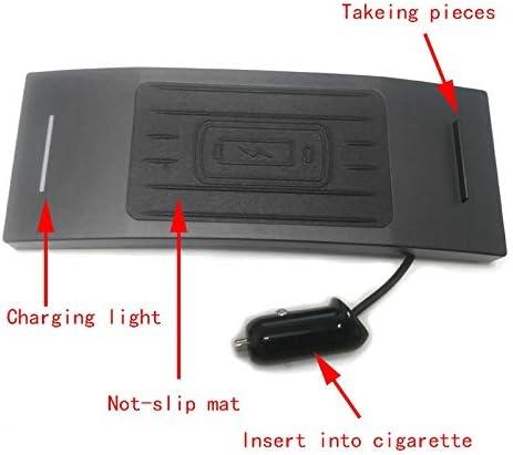 シフトノブ車用 カーアクセサリーA6 C7 A7 2012年から2018年の車のQIのワイヤレス充電携帯電話充電器電話ホルダーのためにiPhone 8 X用のパネルプレートアクセサリーを充電 (Color Name : For A7 2012 2018)