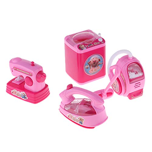 - SM SunniMix Mini Reborn Dolls House Furniture Toys Plastic Vacuum Cleaner Washing Machine Model for Mellchan Baby Dolls Play Toys Set