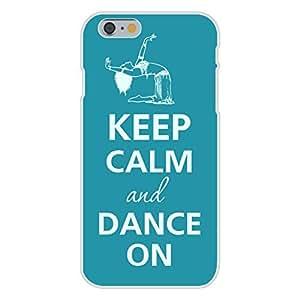 Apple iphone 6 plusd 5.5 Custom Case White Plastic Snap On - Keep Calm and Dance On Female Interpretive