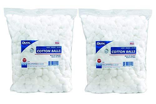 Dukal - 802 Cotton Balls, Non Sterile, Large (Pack of 2000)