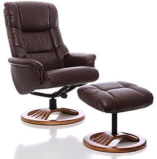 Sillón The Emperor - silla giratoria reclinable de cuero y ...