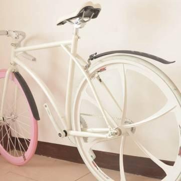Pakhuis Bicicletas de alta calidad Defensas MTB Bike Guardabarros delantero y rociadores traseras Extended - Blue