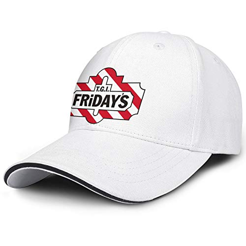 LSHOEJFVG Unisex Man's TGI Fridays Restaurant Hat Baseball Hat Adjustable Captain Flat Caps (Best Food At Tgi Fridays)