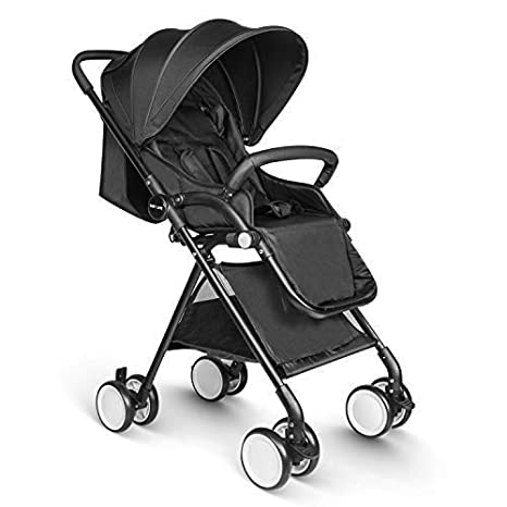 Besrey Pushchair Lightweight Stroller One Hand Fold Travel Buggy - Black