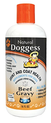 DOGGESS DRESSING Best Hip and Joint Supplement for Dogs, Glucosamine/Joint Health/Salmon Oil for Dogs Skin and Coat Health, Delicious Beef Gravy Flavor - Shark Cartilage Benefits