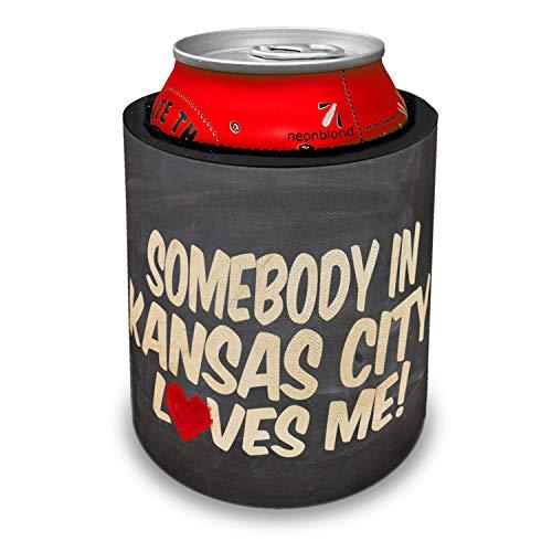 NEONBLOND Somebody in Kansas City Loves me, Kansas Slap Can Cooler Insulator Sleeve
