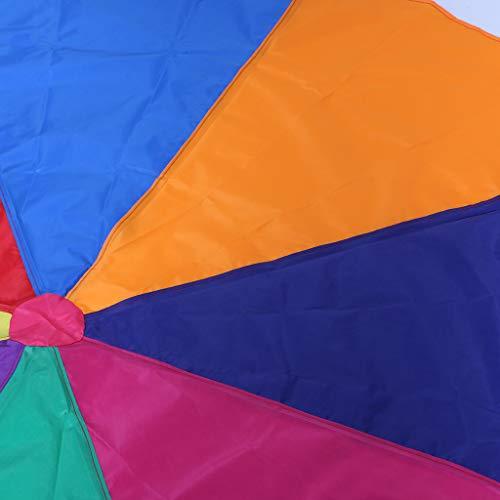 Aiyouxi 2m/3m Kids Children Rainbow Parachute Umbrella Games Outdoor Play Exercise Sports Toy Development Jump-Ballute by Aiyouxi (Image #4)