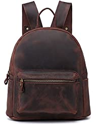 Sulandy Vintage Womens Daily Genuine Leather Casual Backpack Rucksack Bag