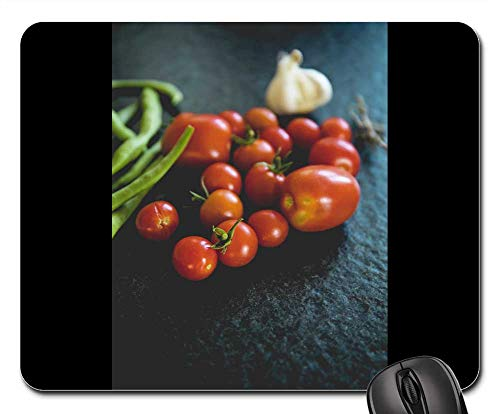 Mouse Pad - Tomatoes Vegetables Datailaufnahme Food Garden Red