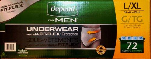 Depend MEN Maximum Absorbency Underwear Large, - Absorbent Super Depend