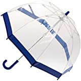 CLIFTON UMBRELLAS Navy Blue Trim Kid Friendly PVC Birdcage Umbrella, Navy Blue, One Size