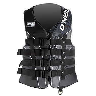 O'Neill Wake Waterski Men's Superlite USCG Vest (Blk/Met/Blk, XX-Large)